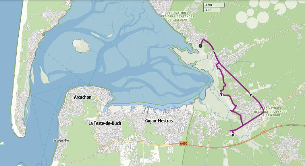 circuit à vélo Bassin d'Arcachon